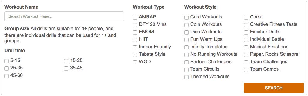 group fitness class ideas