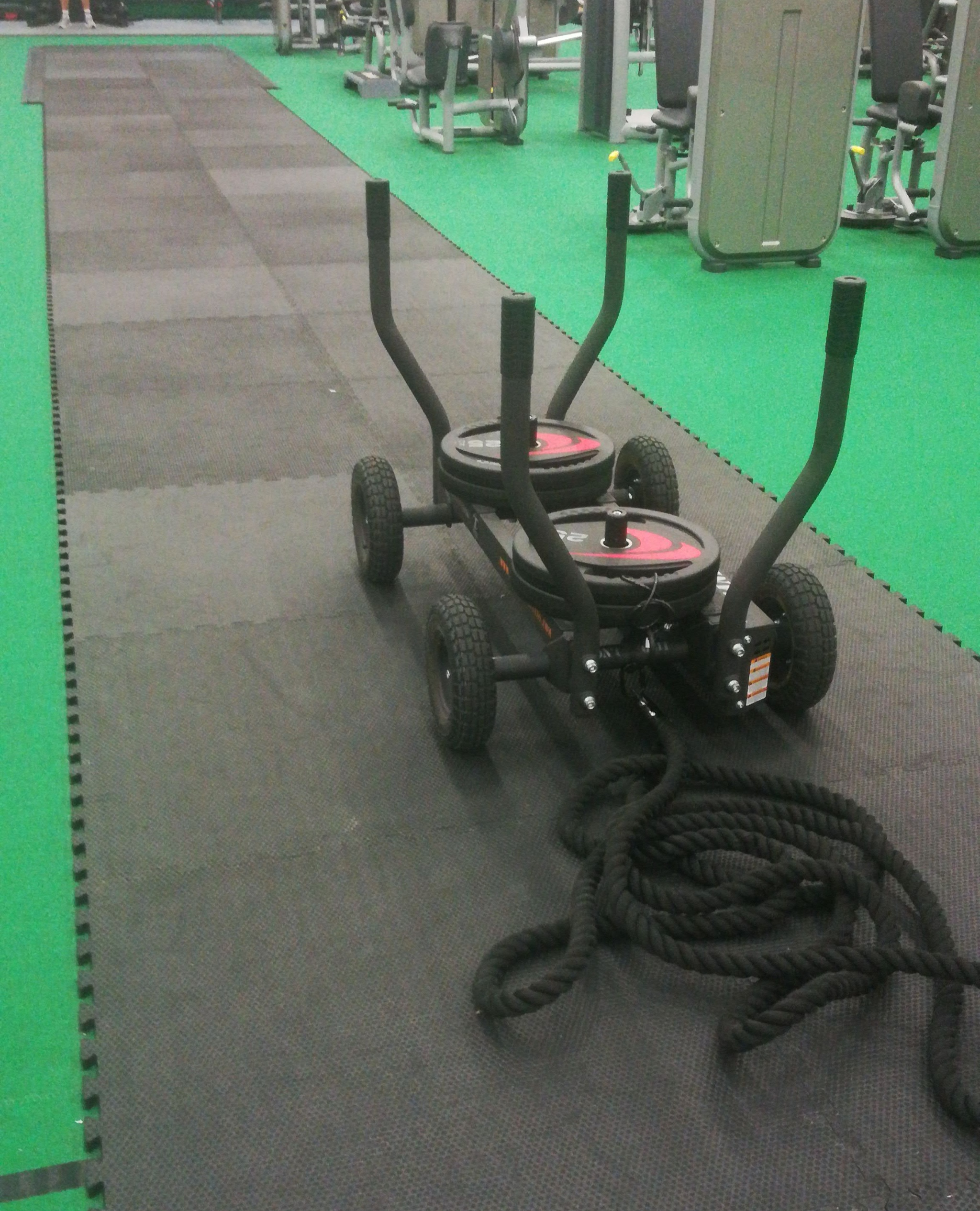 group fitness workouts sled