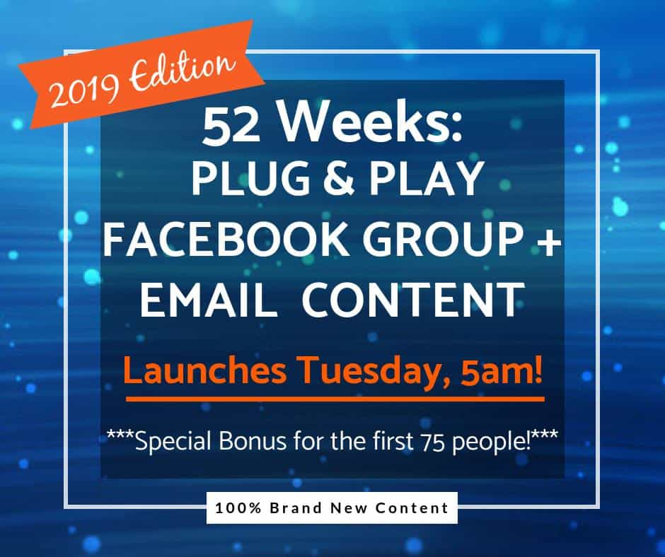 52 Weeks Of Facebook Content