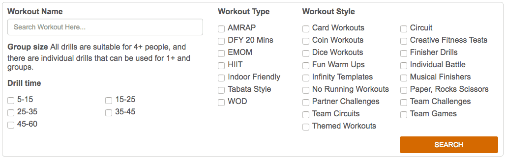 group fitness class ideas